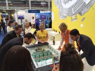 table football with Newcastle at The Meetings Show UK 2016